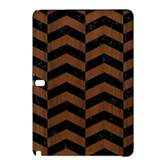Chevron2 Black Marble & Brown Wood Samsung Galaxy Tab Pro 12 2 Hardshell Case by trendistuff