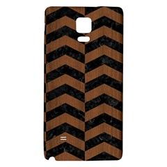 Chevron2 Black Marble & Brown Wood Samsung Note 4 Hardshell Back Case by trendistuff