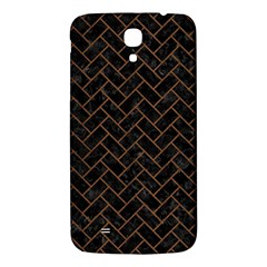 Brick2 Black Marble & Brown Wood Samsung Galaxy Mega I9200 Hardshell Back Case by trendistuff