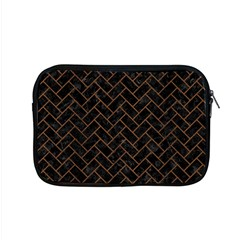 Brick2 Black Marble & Brown Wood Apple Macbook Pro 15  Zipper Case by trendistuff