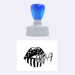 Usa Lips 4july Rubber Stamp (oval) by pushu