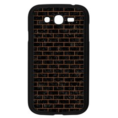 Brick1 Black Marble & Brown Wood Samsung Galaxy Grand Duos I9082 Case (black) by trendistuff