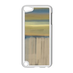 Denim Blue And Buttercream Apple Ipod Touch 5 Case (white) by digitaldivadesigns