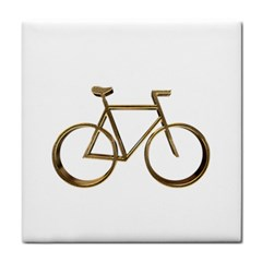 Elegant Gold Look Bicycle Cycling  Tile Coasters by yoursparklingshop