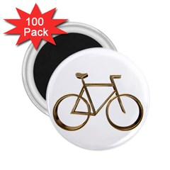 Elegant Gold Look Bicycle Cycling  2 25  Magnets (100 Pack)  by yoursparklingshop