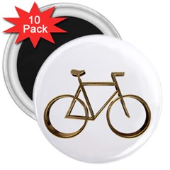 Elegant Gold Look Bicycle Cycling  3  Magnets (10 Pack)  by yoursparklingshop