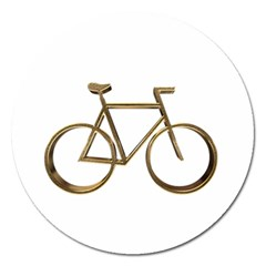 Elegant Gold Look Bicycle Cycling  Magnet 5  (round) by yoursparklingshop