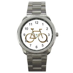 Elegant Gold Look Bicycle Cycling  Sport Metal Watch by yoursparklingshop
