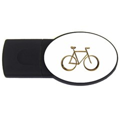 Elegant Gold Look Bicycle Cycling  Usb Flash Drive Oval (4 Gb) by yoursparklingshop