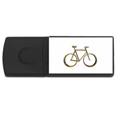 Elegant Gold Look Bicycle Cycling  Rectangular Usb Flash Drive by yoursparklingshop