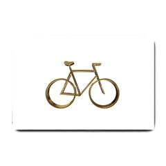 Elegant Gold Look Bicycle Cycling  Small Doormat  by yoursparklingshop