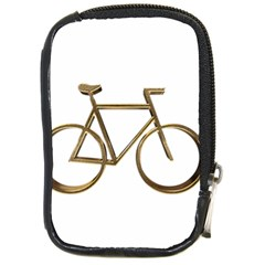 Elegant Gold Look Bicycle Cycling  Compact Camera Cases by yoursparklingshop