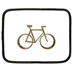 Elegant Gold Look Bicycle Cycling  Netbook Case (xxl)  by yoursparklingshop