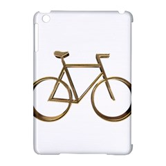 Elegant Gold Look Bicycle Cycling  Apple Ipad Mini Hardshell Case (compatible With Smart Cover) by yoursparklingshop