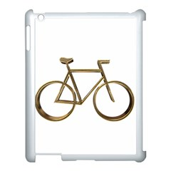 Elegant Gold Look Bicycle Cycling  Apple Ipad 3/4 Case (white) by yoursparklingshop