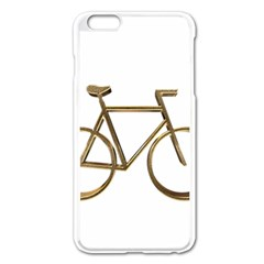 Elegant Gold Look Bicycle Cycling  Apple Iphone 6 Plus/6s Plus Enamel White Case by yoursparklingshop