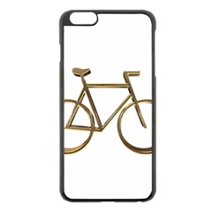 Elegant Gold Look Bicycle Cycling  Apple Iphone 6 Plus/6s Plus Black Enamel Case by yoursparklingshop