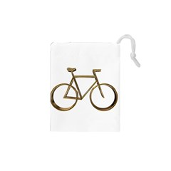 Elegant Gold Look Bicycle Cycling  Drawstring Pouches (xs)  by yoursparklingshop