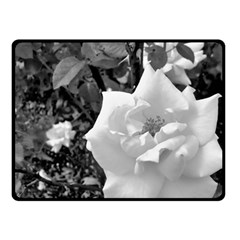 White Rose Black Back Ground Greenery ! Fleece Blanket (small) by CreatedByMeVictoriaB