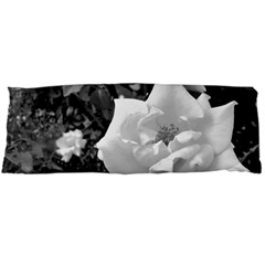 White Rose Black Back Ground Greenery ! Body Pillow Case (dakimakura) by CreatedByMeVictoriaB