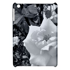 White Rose Black Back Ground Greenery ! Apple Ipad Mini Hardshell Case by CreatedByMeVictoriaB
