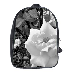 White Rose Black Back Ground Greenery ! School Bags (xl)  by CreatedByMeVictoriaB