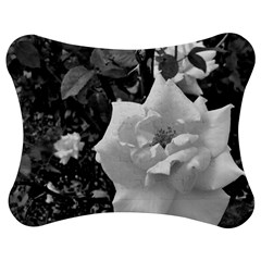 White Rose Black Back Ground Greenery ! Jigsaw Puzzle Photo Stand (bow) by CreatedByMeVictoriaB