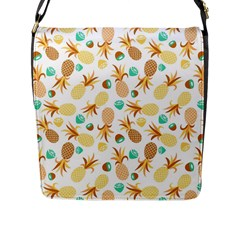 Seamless Summer Fruits Pattern Flap Messenger Bag (l)  by TastefulDesigns
