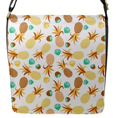 Seamless Summer Fruits Pattern Flap Messenger Bag (s) by TastefulDesigns