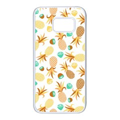 Seamless Summer Fruits Pattern Samsung Galaxy S7 White Seamless Case by TastefulDesigns