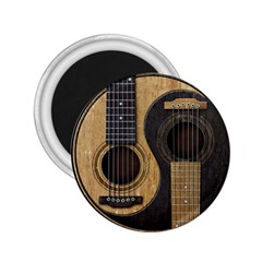 Old And Worn Acoustic Guitars Yin Yang 2 25  Magnets by JeffBartels
