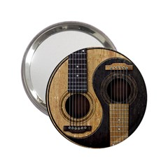Old And Worn Acoustic Guitars Yin Yang 2 25  Handbag Mirrors by JeffBartels