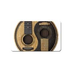 Old And Worn Acoustic Guitars Yin Yang Magnet (name Card) by JeffBartels