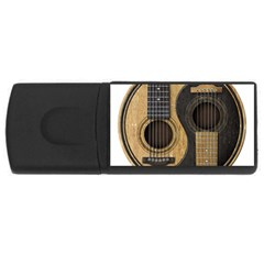 Old And Worn Acoustic Guitars Yin Yang Rectangular Usb Flash Drive by JeffBartels