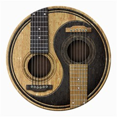 Old And Worn Acoustic Guitars Yin Yang Canvas 12  X 12   by JeffBartels