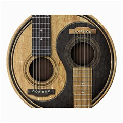 Old And Worn Acoustic Guitars Yin Yang Canvas 18  X 24   by JeffBartels
