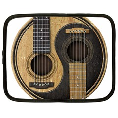 Old And Worn Acoustic Guitars Yin Yang Netbook Case (large)