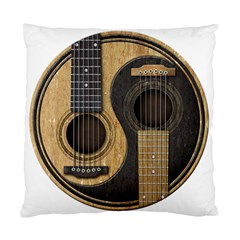 Old And Worn Acoustic Guitars Yin Yang Standard Cushion Case (two Sides)