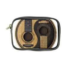 Old And Worn Acoustic Guitars Yin Yang Coin Purse