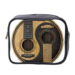 Old And Worn Acoustic Guitars Yin Yang Mini Toiletries Bag 2 Side by JeffBartels