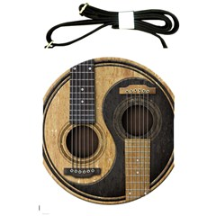 Old And Worn Acoustic Guitars Yin Yang Shoulder Sling Bags by JeffBartels