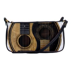 Old And Worn Acoustic Guitars Yin Yang Shoulder Clutch Bags