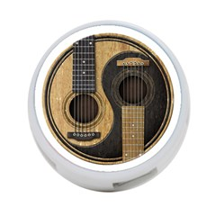 Old And Worn Acoustic Guitars Yin Yang 4 Port Usb Hub (one Side) by JeffBartels