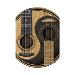 Old And Worn Acoustic Guitars Yin Yang Shower Curtain 48  X 72  (small)  by JeffBartels
