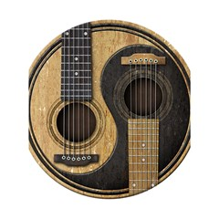 Old And Worn Acoustic Guitars Yin Yang Shower Curtain 60  X 72  (medium)  by JeffBartels