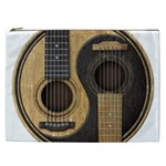 Old And Worn Acoustic Guitars Yin Yang Cosmetic Bag (XXL)  Front