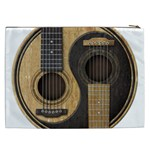 Old And Worn Acoustic Guitars Yin Yang Cosmetic Bag (XXL)  Back