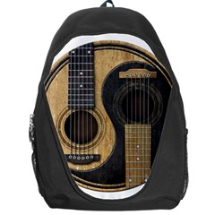 Old And Worn Acoustic Guitars Yin Yang Backpack Bag by JeffBartels