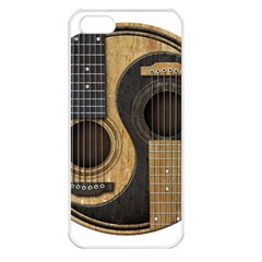 Old And Worn Acoustic Guitars Yin Yang Apple Iphone 5 Seamless Case (white)