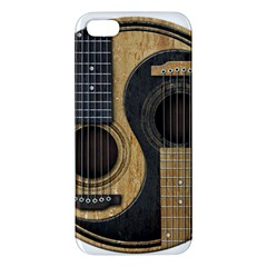 Old And Worn Acoustic Guitars Yin Yang Apple Iphone 5 Premium Hardshell Case by JeffBartels